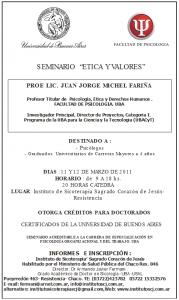 2011-03-11 Ética y Valores - Michael Fariña