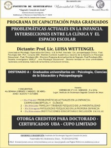 2013- Intersecciones entre la clínica y el espacio escolar-afiche wettengel