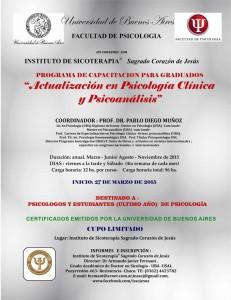 2014- CURSO ANUAL PSICOLOGIA CLINICA Y PSICOANÁLISIS-UBA EN CHACO-Afiche