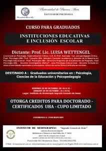 2013 Programa de Capacitacion para graduados Intersecciones entre la clínica y el espacio escolar de la  Prof. Lic. Luisa Wettengel - modulo4 -opt