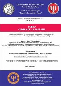 afiche - Clinica de la angustia